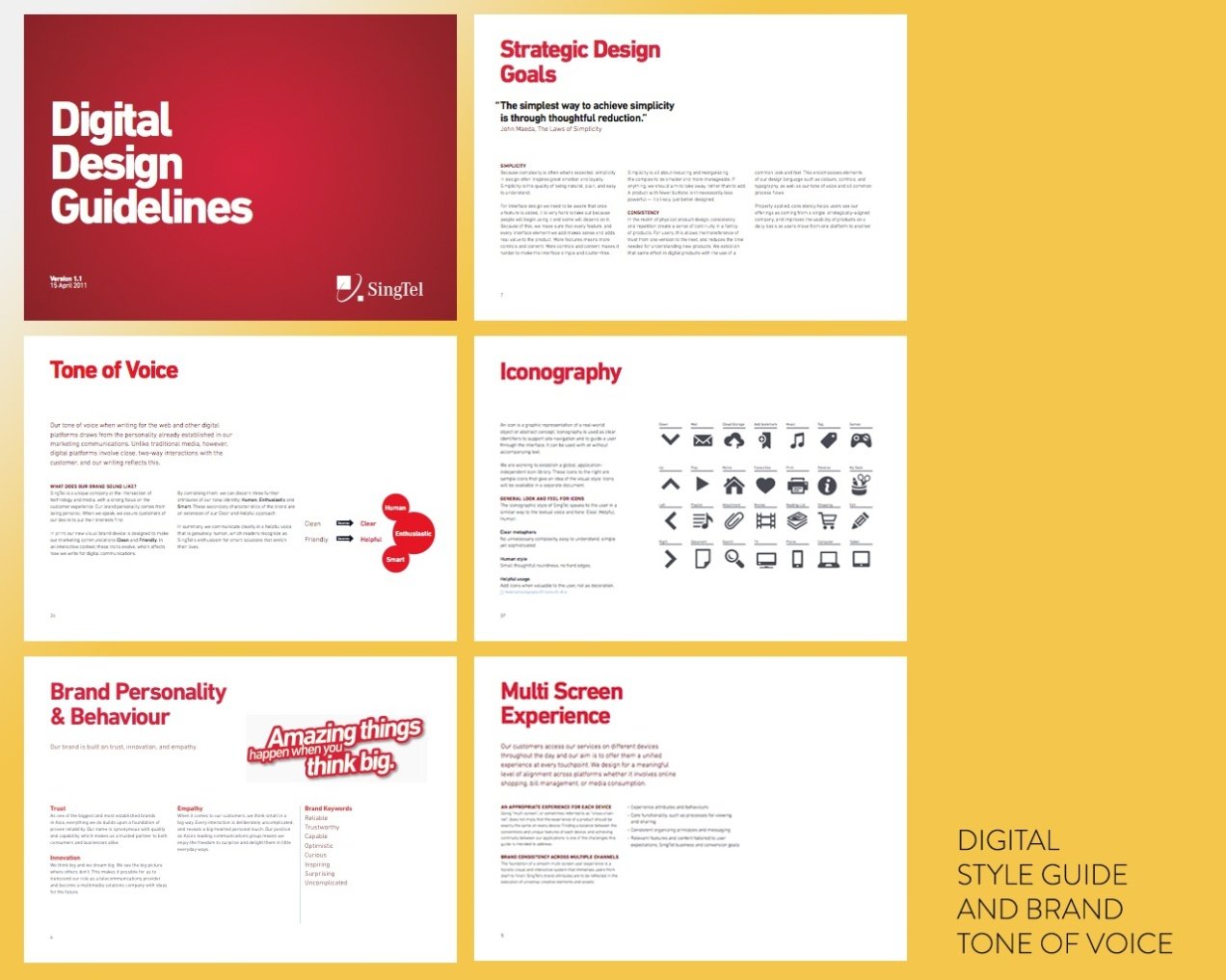 Copy Deliverable: Digital Design Guidelines and Tone of Voice documentation