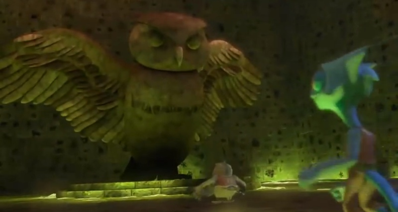 The Owl Library location in the animated series...