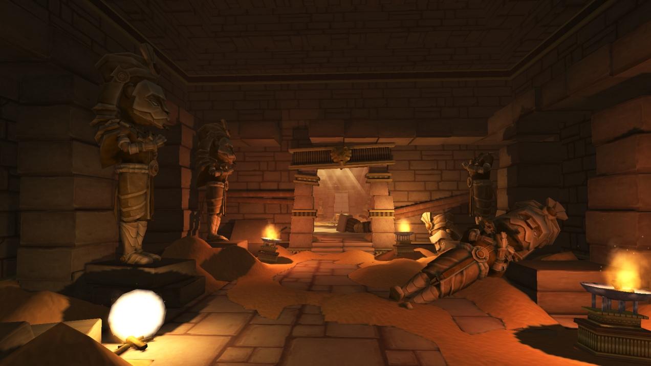 Egyptian-themed temple interior